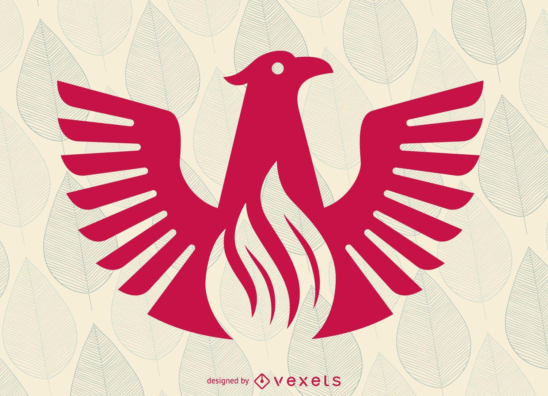 Flat phoenix bird logo template