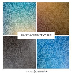 Gradient floral background set