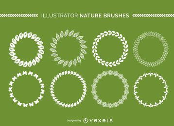 Illustrator nature brushes collection