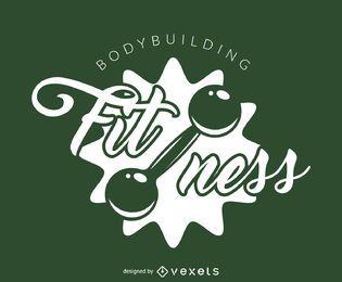 Modelo de logotipo de ginásio de fitness