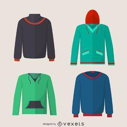 Conjunto del diseño del suéter de la sudadera con capucha