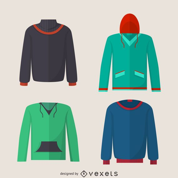Hoodie sweater design set