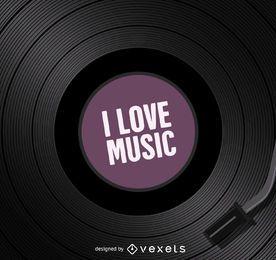 Me encanta la música de vinilo