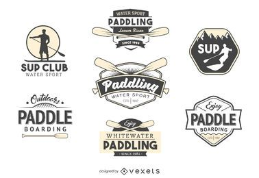 Remando coleção de modelo de logotipo