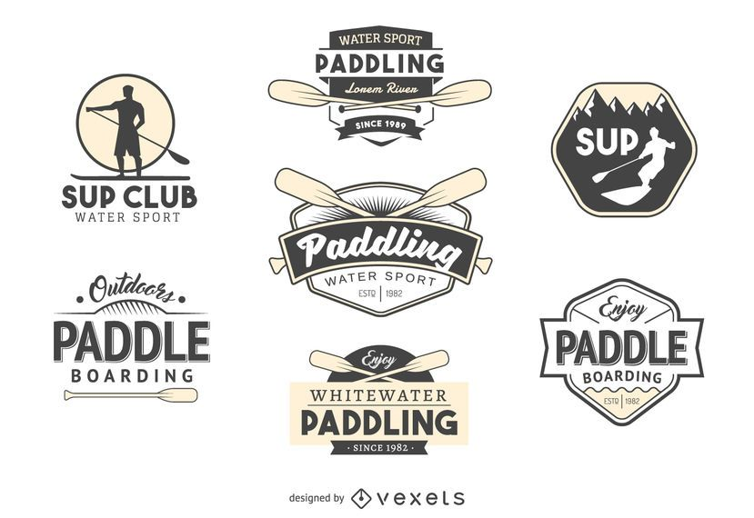 Paddling logo template collection