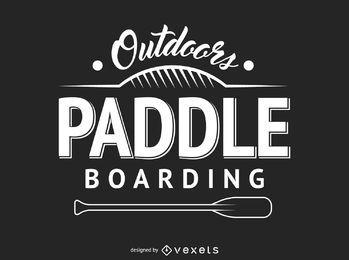 Hipster paddling label
