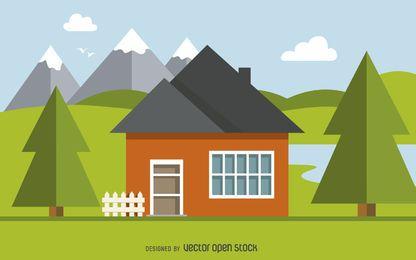 Diseño de ilustración casa