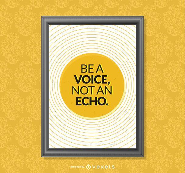 quadro de cartaz citações inspiradores