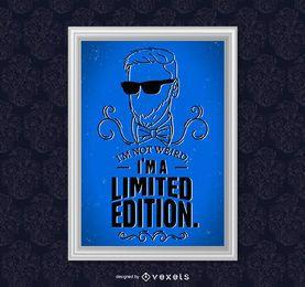 cartel de la cita de edición limitada