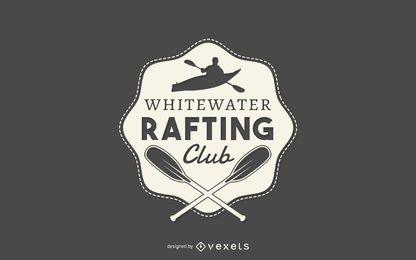 Plantilla de logotipo de club de rafting