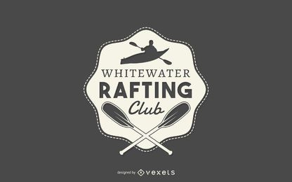 Rafting club logo template