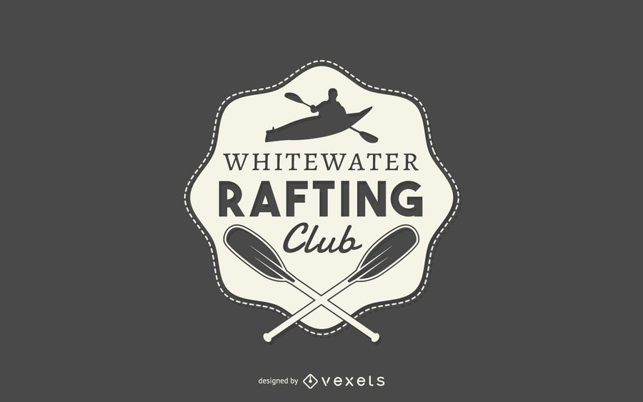 Rafting club logo template