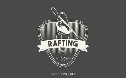 Etiqueta de rafting hipster