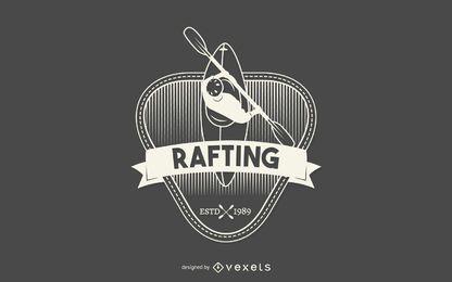 Rótulo de Rafting Hipster