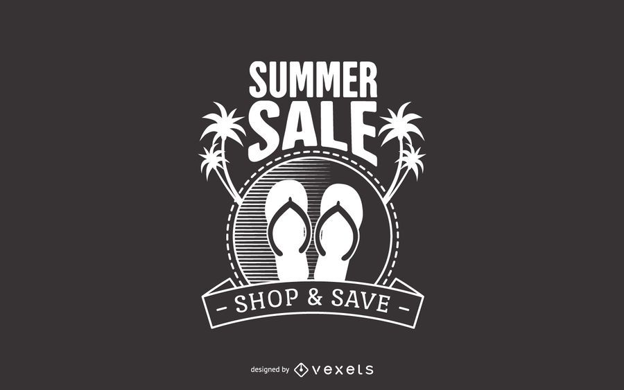 Summer sale beach label