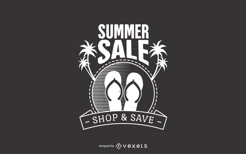 Summer sale beach label