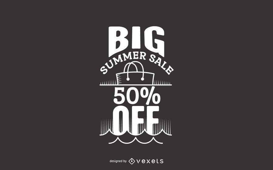 Rótulo de venda grande verão