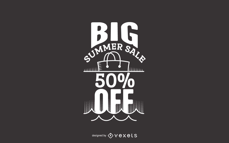 Etiqueta de gran venta de verano