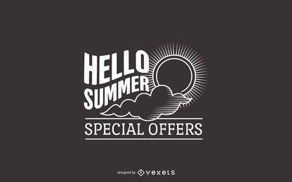 Oferta de verano diseño de etiquetas