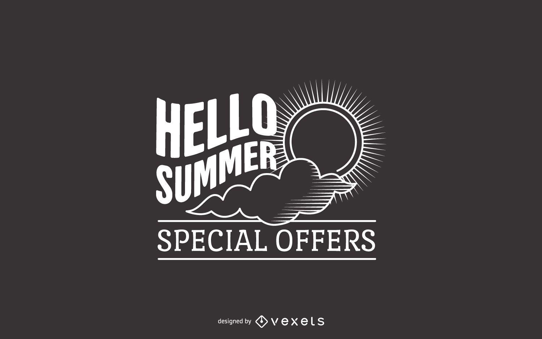Summer offers label design