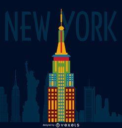 Cartel ilustración de nueva york