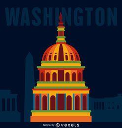El cartel del viaje Washington