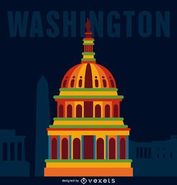 Washington travel poster
