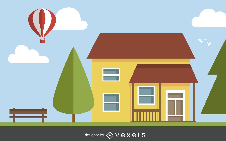 Ilustraci n de la casa cl sica descargar vector for Comercial casa clasica baruta