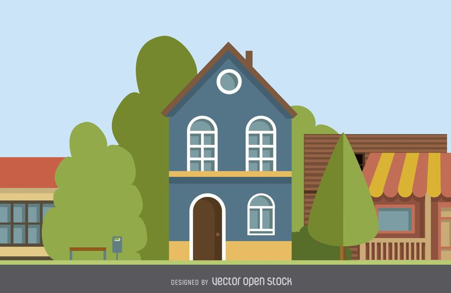 Two story home illustration