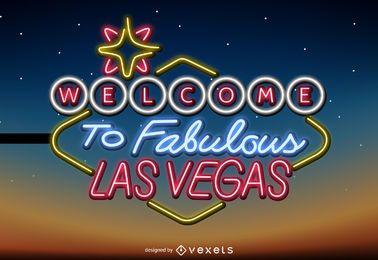 Letrero de neón de Las Vegas