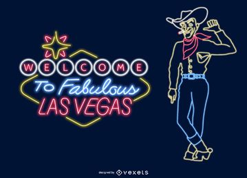 sinais de néon de Las Vegas