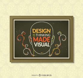 Inspirierendes Design-Poster