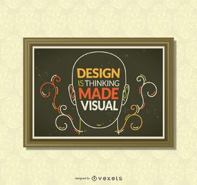 poster design de inspiração