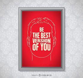 Ser la mejor versión de ti cartel