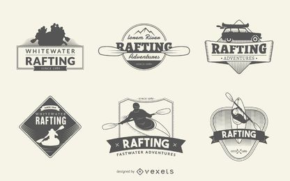 Conjunto de la insignia de Rafting
