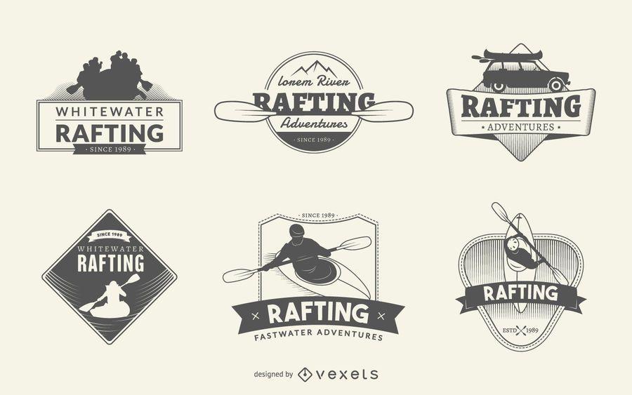 Rafting logo set