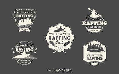 Hipster rafting logo colección