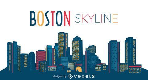 Horizonte da cidade de Boston