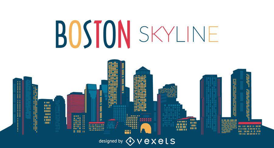 Boston Skyline der Stadt