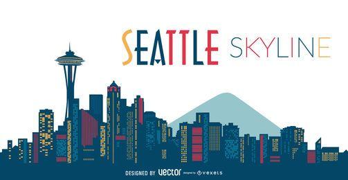 Ilustração do Skyline de Seattle