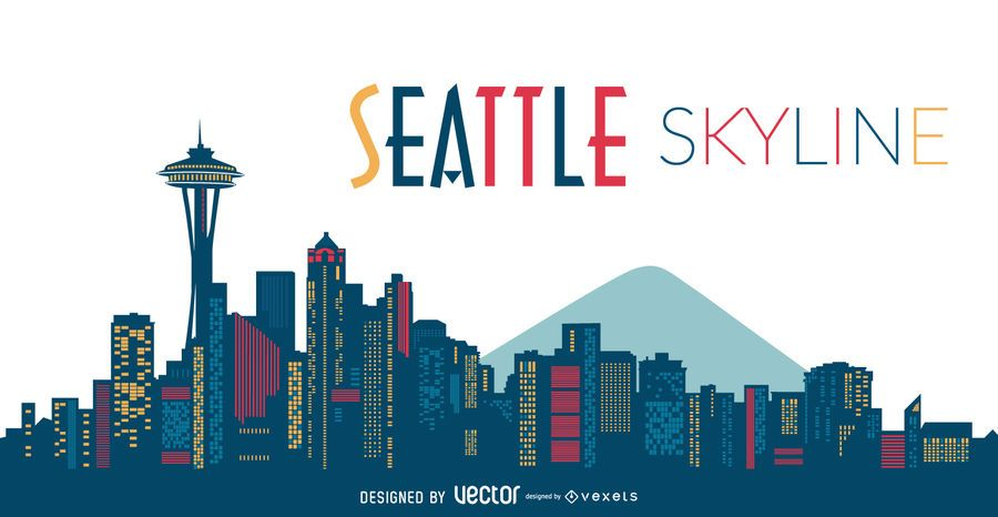 seattle skyline silhouette vector download rh vexels com seattle skyline vector art seattle skyline vector free