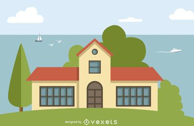 Casa grande, ilustração