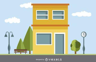 Dibujo de casa moderna