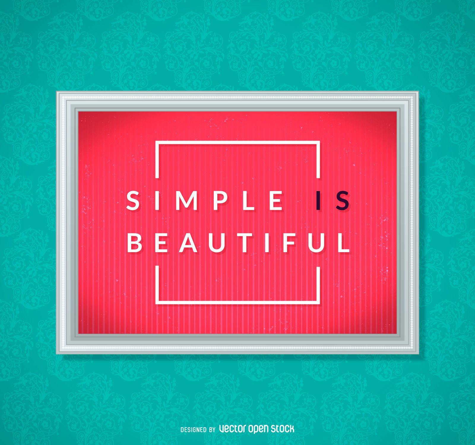 Simple is beautiful poster
