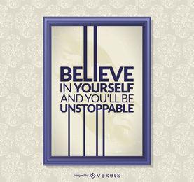 Cartaz de citação motivacional