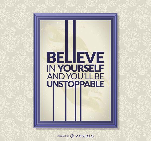 Cita motivacional poster