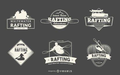 Coleção de crachá de logotipo Rafting