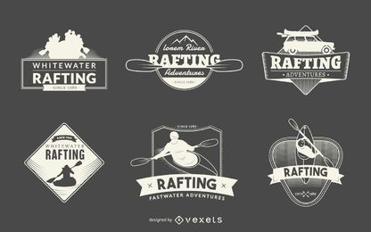 Rafting logo badge collection