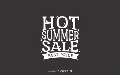etiqueta de la venta del verano