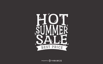 Rótulo de venda de verão